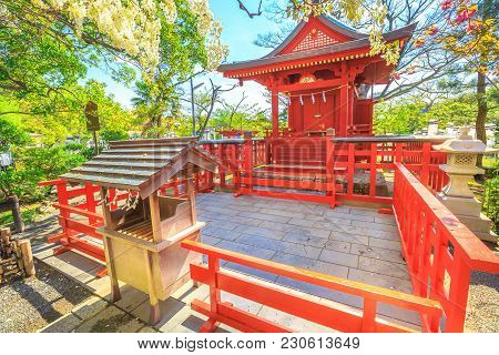 Red Architecture Of Hataage Benzaiten