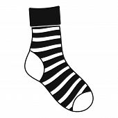 Striped Sock Icon. Simple Illustration Of Striped Sock Vector Icon For Web poster