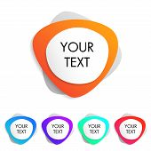 Colorful Set Of Web Buttons With Gradient. Web And Application Elements. Isolated Button Sign With B poster