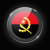 Angola National Flag. Application Language Symbol. Country Of Manufacture Icon. Round Glossy Isolate poster