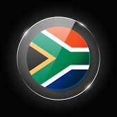 South Africa National Flag. Application Language Symbol. Country Of Manufacture Icon. Round Glossy I poster