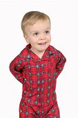Boy In Clothes Isolated On White
