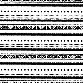 Ethnic Seamless Pattern In Native Style. Tribal Vector Seamless Pattern With Native American Indian  poster