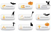 stock photo of casper  - website download buttons with special halloween decoration - JPG