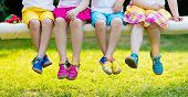 Kids With Colorful Shoes. Children Footwear poster