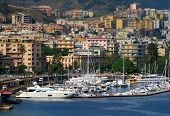 foto of messina  - View from passing cruise ship of Italian coast - JPG