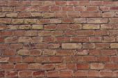 Cropped Shot Of A Facebrick Wall. The Wall. Old Brick Background.wall Texture Grunge Background With poster