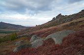 Autumn On The Ku Mountain Range. A Mountain Range Is A Series Of Mountains Or Hills Ranged In A Line poster
