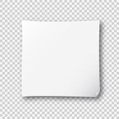 White Post Note Paper Sheet Sticker. Vector Post Office Memo Or Remember Notepaper Sticky With Shado poster