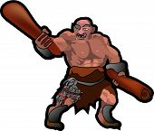 stock photo of loin cloth  - Giant fantasy character with clubs - JPG