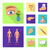 Isolated Object Of Symptom And Disease Sign. Collection Of Symptom And Treatment Vector Icon For Sto poster