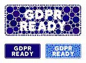 Gdpr Ready Rounded Rectangle Mosaic Of Filled Circles In Different Sizes And Color Tones, Based On G poster