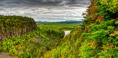 Panoramic Hdr Image Of Ouimet Canyon In Autumn, Thunder Bay District, Northwestern Ontario, Canada poster