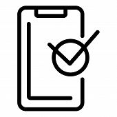 Warranty Smartphone Icon. Outline Warranty Smartphone Vector Icon For Web Design Isolated On White B poster