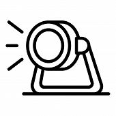 Studio Spotlight Icon. Outline Studio Spotlight Vector Icon For Web Design Isolated On White Backgro poster