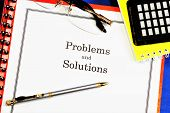 Problems And Solutions. A Problem Is An Obstacle On The Way To Achieving A Goal, A Complex Theoretic poster