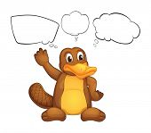 stock photo of platypus  - Illustration of a platypus on a white background - JPG