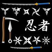 foto of kama  - ninja weapons shuriken katana kunai kama warrior - JPG