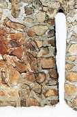 pic of waterspout  - Old drain pipe with frozen water against the wall - JPG