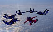 pic of parachute  - The group of athletes in the sky - JPG