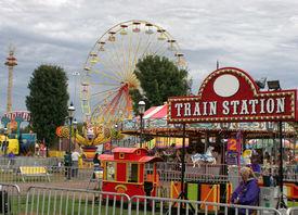 foto of amusement park rides  - amusement park - JPG