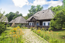 image of suceava  - Old Traditional Romanian Rural Household On A Beautiful Summer Day - JPG
