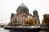 The Cathedral Of Berlin And Spree River