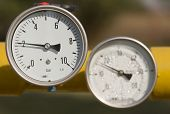 stock photo of barometer  - Barometers in oil and natural gas industry - JPG