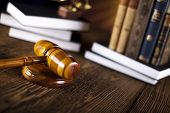 picture of magistrate  - Wooden gavel barrister - JPG