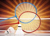 stock photo of shuttlecock  - Badminton shuttlecock - JPG