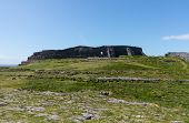 picture of galway  - Dun Aonghasa or Dun Aengus is the most famous of several prehistoric forts on the Aran Islands of County Galway Ireland - JPG