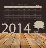 stock photo of february  - 2014 calendar - JPG