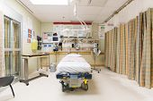 image of stretcher  - Emergency intake room in hospital - JPG