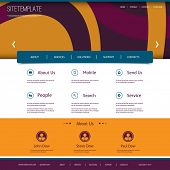 Website Template with Abstract Header Design - Ovals Pattern