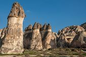 foto of hoodoo  - Typical landscape with hoodoos  - JPG