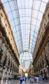 Galleria Vittorio Emanuele Ii Shopping Gallery In Milan, Italy