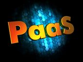 PAAS Concept on Digital Background.