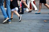 image of going out business sale  - crowd of people going shopping - JPG