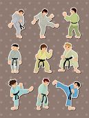 image of friendship belt  - Cartoon Karate Player Stickers - JPG