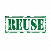 stock photo of reuse  - Grunge rubber stamp with word Reuse - JPG