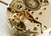 Old watch mechanism
