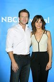 PASADENA - APR 8: Matt Passmore, Stephanie Szostak at the NBC/Universal's 2014 Summer Press Day held