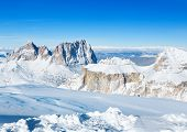 stock photo of italian alps  - landscape with winter mountains in Italian Alps - JPG