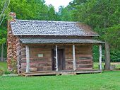 stock photo of log cabin  - rustic log cabin in sc - JPG