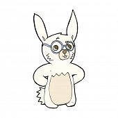 cartoon rabbit wearing spectacles