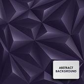 Abstract violet background pyramid