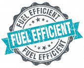 stock photo of fuel efficiency  - Fuel efficient turquoise grunge retro vintage isolated seal - JPG