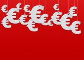 Hung symbols Euro. Vector Illustration.