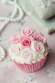 stock photo of sugarpaste  - Wedding cupcake - JPG