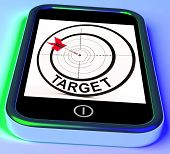 Target Smartphone Shows Goals Aims And Objectives